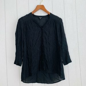 Lucky Brand Women Size Small Button Down Sheer Top
